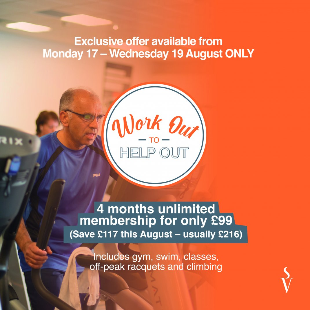Work Out to Help Out Membership Offer